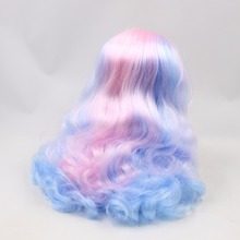 Neo Blythe Doll Scalp Wigs Colorful Hair With Hard Endoconch