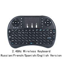 Беспроводная клавиатура i8 русская/английская/Испанская версия 2,4 GHz Air mouse Сенсорная панель Teclado ручной для Android tv PC