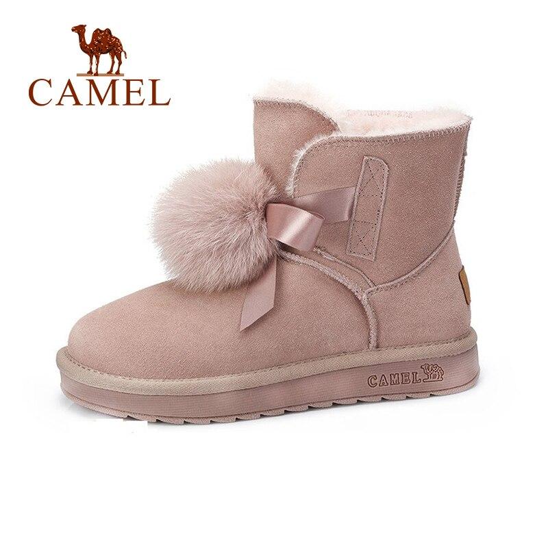 CAME Women Snow Boots Shoes Winter Flat Heel Cut Sweet Style Shoes Women Keep Warm Plus Velvet Non-Slip Comfortable Boots все цены