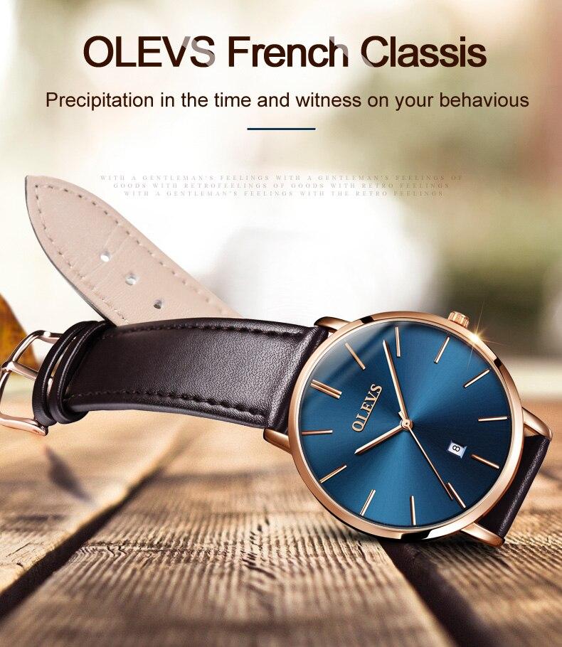 UTB8UWzsXCbIXKJkSaefq6yasXXaq 60% OFF OLEVS Men Ultra thin Watches - Top Brand Luxury Quartz Watch Men's [ New ]