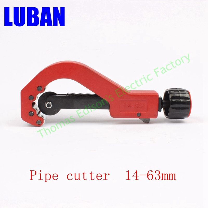 Pipe cutter cutting tool cutter pvc copper aluminum pipe cutter tube cutter 14-63mm rdeer 42mm pvc pipe cutter pp r pu pe pipe plastic hose ratcheting cutters stailess steel blade cutting tool