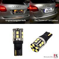 PA LED 2PCS X T10 CANBUS 5W W5W LED 2835 No Error LED 15SMD 2835 Super Bright White 10 30V