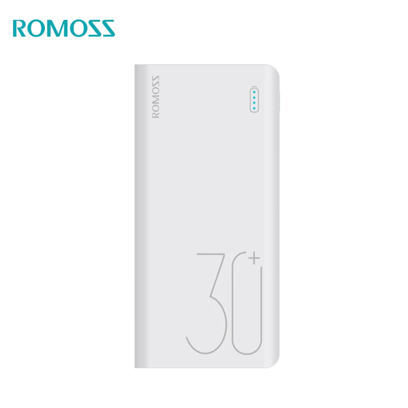 Power bank Romoss  Sense 8+ 30000 mAh USB Type power bank externa bateria portable charger for phone universal 5200mah external li ion battery charger power bank w led indicator usb cable white