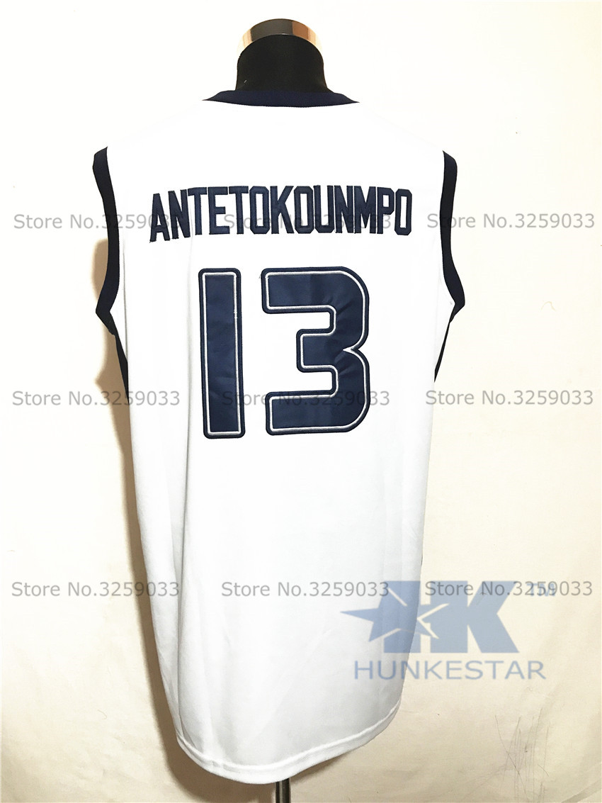 Mens Hellas Giannis Antetokounmpo Jersey  13 Greece Throwback Basketball  Jersey MAN Basket Uniforms Stitched Trikots Shirts-in Basketball Jerseys  from ... f651a95cf