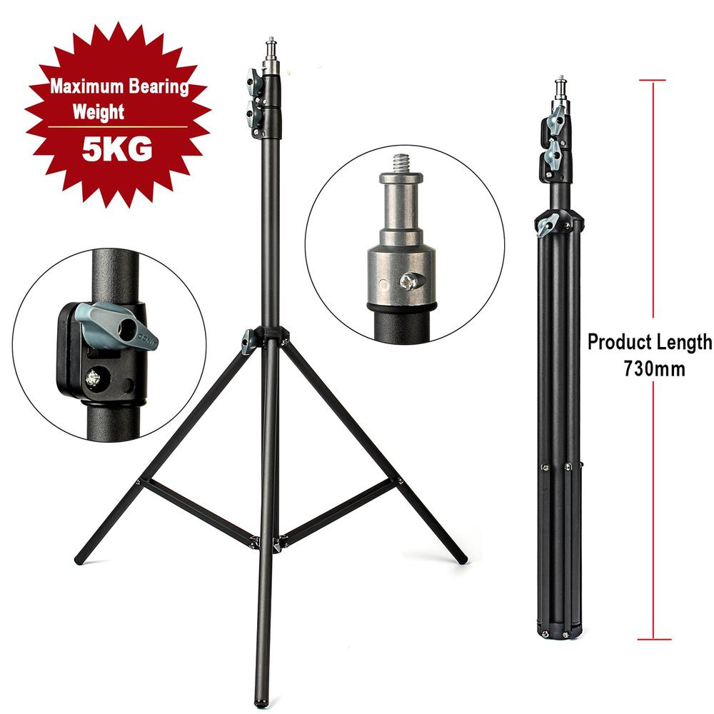 EACHSHOT 2M Light Stand Tripod With 1/4 Screw Head Bearing Weight 5KG For Studio Softbox Flash Umbrellas Reflector Lighting tolifo 2m 79in light stand tripod with 1 4 screw head for photo studio softbox video flash umbrellas reflector lighting