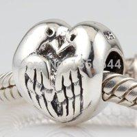 Deux Tourterelles Paix Amour 100% 925 Sterling Silver Charm Perles Convient Charms Bracelet S