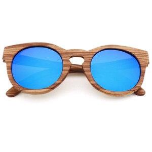 Image 3 - Damskie bambusowe okulary przeciwsłoneczne spolaryzowane drewniane oprawki okularów Zebra Handmade Vintage drewniana ramka męskie okulary przeciwsłoneczne do jazdy fajne polaryzacja