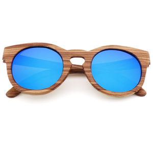 Image 3 - Womens Bamboo Sunglasses Polarized Zebra Wood Glasses Handmade Vintage Wooden Frame Mens Driving Sunglasses Cool Polarization