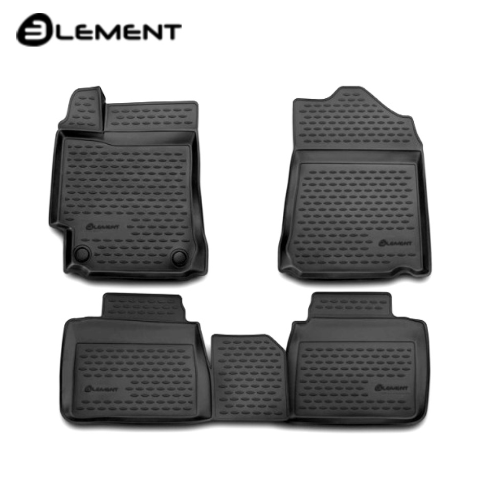 For Toyota Camry XV55 2014-2017 3D floor mats into saloon 4 pcs/set Element NLC3D4863210K custom fit car floor mats for toyota camry rav4 prius prado highlander verso 3d car styling carpet liner ry56