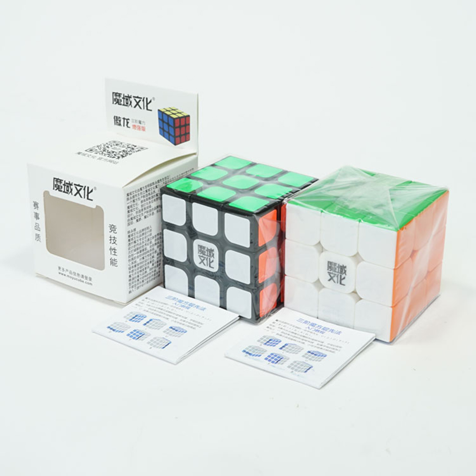 Original Moyu Aolong V2 Stickerless Black 3x3 Speed Cube Magic Cube Puzzles Enhanced Version