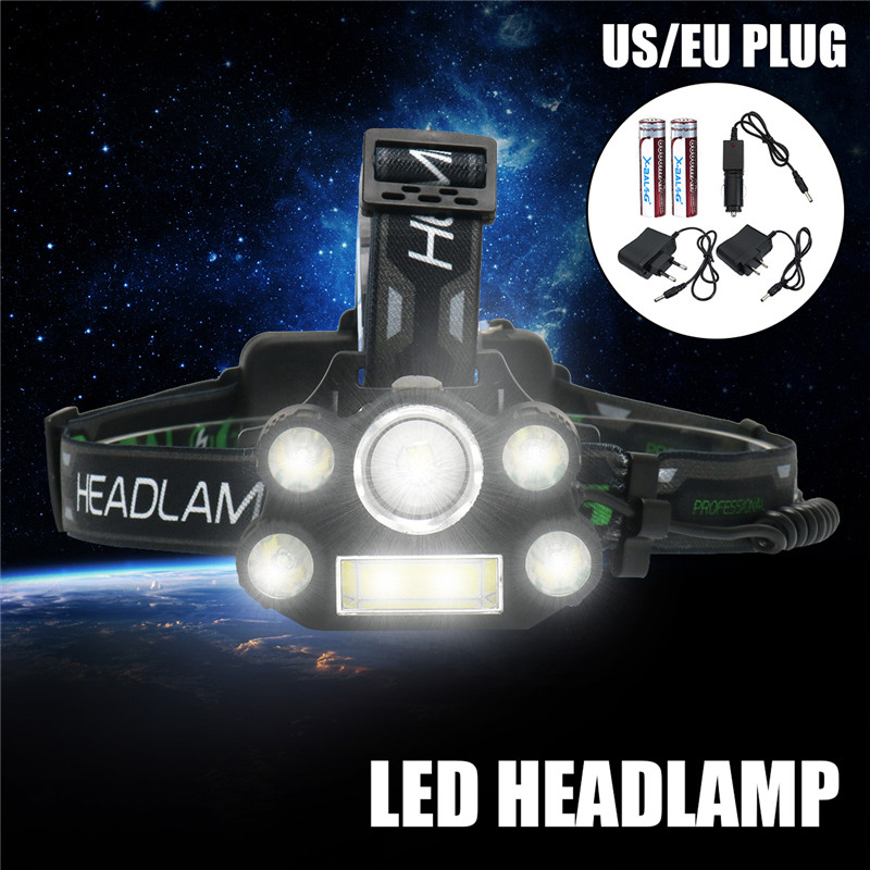 Mising T6 LED Headlamp Zoomable Headlight Waterproof 6 Modes Head Torch Flashlight Head Lamp Fishing Hunting Light Outdoor