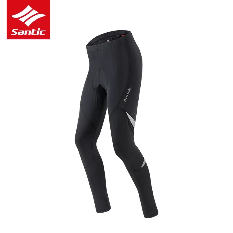 Santic Spring Autumn Cycling Pants With 5D Gel Pad Cycling Tights MTB Bike Trousers Breathable Quick