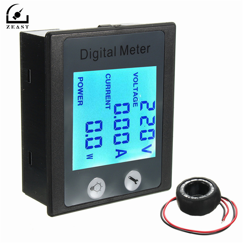 AC 80-260V 100A Digital Voltmeter Voltage Power Energy Meter Ammeter Transformer LCD STN Whole Viewing Angle