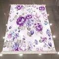 Фиолетовый синий винтажный цветочный 3d Рисунок розы микрофибра против скольжения сзади моющийся декоративный ковер для области килима