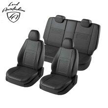 Для Renault Duster 2011-2014 Комплект модельных авточехлов из экокожи (для а/м с раздельной спинкой 60/40 и боковыми подушками безопасности (модель Турин)