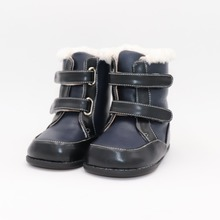 Tipsietoes 2020 New Winter Children Barefoot Shoes Leather Martin Boots Kids Snow Boys Rubber Fashion Pink Sneakers