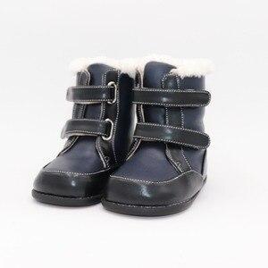 Image 1 - Tipsietoes 2020 새로운 겨울 어린이 맨발의 신발 가죽 마틴 부츠 키즈 스노우 보이즈 고무 패션 핑크 스니커즈