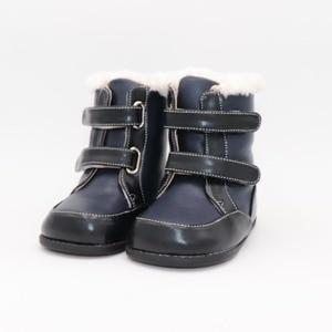 Image 1 - Tipsietoes zapatos descalzos para niños, botas Martin de cuero, para la nieve, de goma, zapatillas rosa, novedad de invierno de 2020
