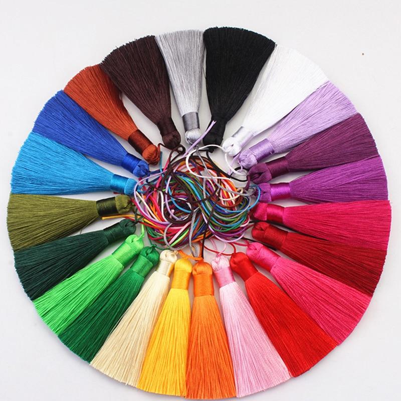 wholesale 12pcs/lot 8cm short fat tassel silk fringe sewing bang tassel trim decorative key tassels for curtain home decoration