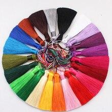 wholesale 12pcs/lot 8cm short fat tassel silk fringe sewing bang trim decorative key tassels for curtain home decoration