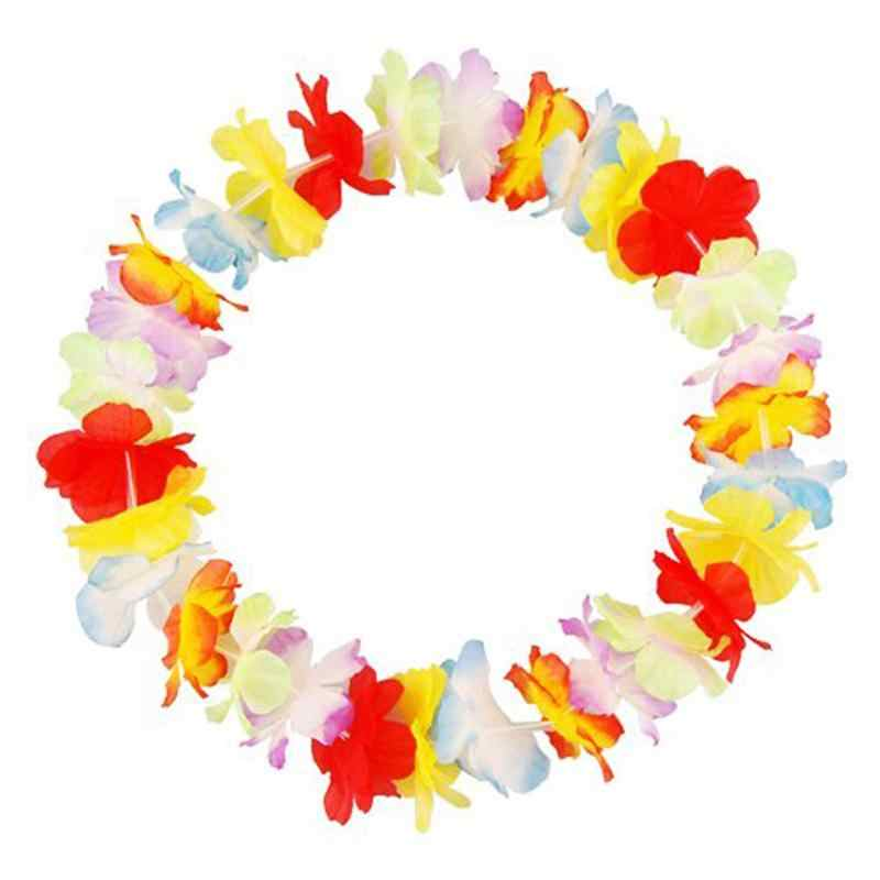 50 шт. Гавайи Тропический Мода Хула Трава Цветок Танца Ожерелье Гирлянды Шоу Танец Трава Венок