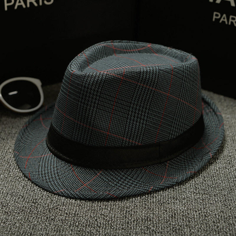 England Retro Top Jazz Plaid Hats 9