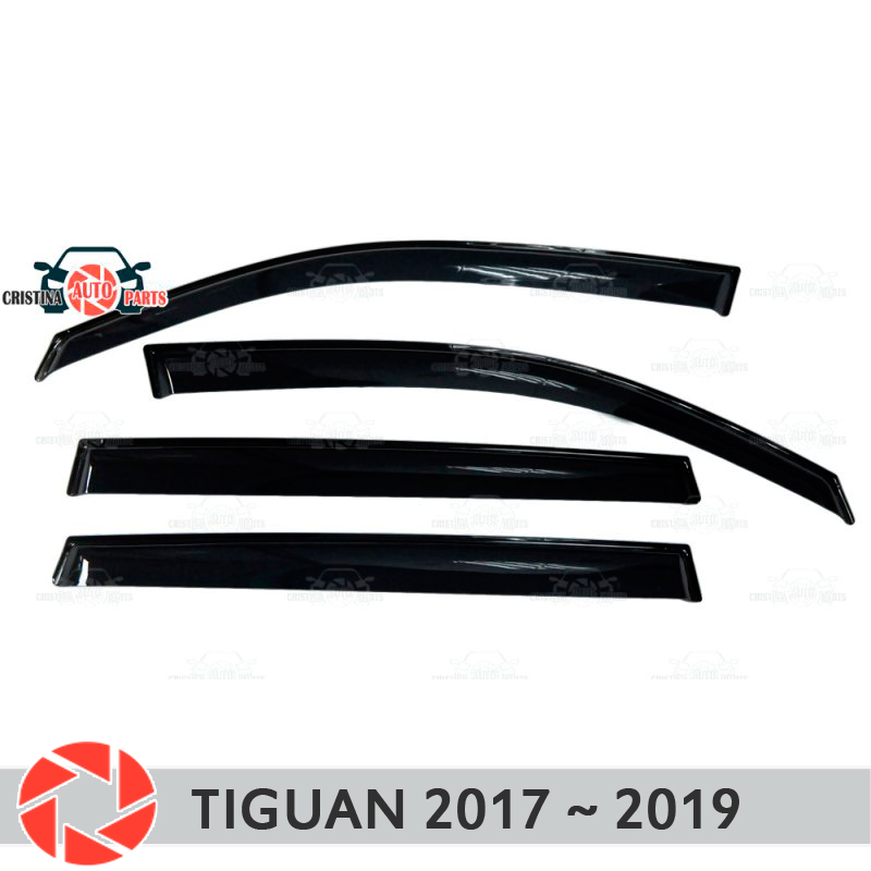 Window deflector for Volkswagen Tiguan 2017~ rain deflector dirt protection car styling decoration accessories molding carbon door side wing mirror cover rearview mirror protector cover for volkswagen vw tiguan 2010 2013 car styling accessories