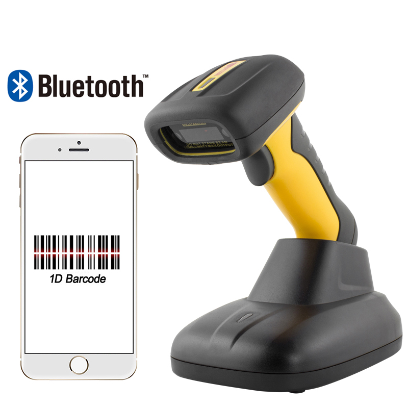 Portable Bluetooth Barcode Scanner Waterproof IP67 Easy Charging 1D CCD Bar Code Scanner for POS System HW-1205BT цена 2017