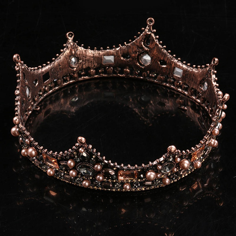 Bronze crown studio photo studio wedding headdress - bronze New Style Queen Crown Princess Bride Wedding Headdress Accessories