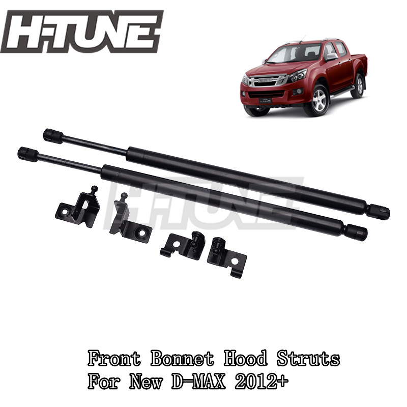 H TUNE 4x4 Accessories Front Hood Bonnet Gas Shock Strut Damper for New D MAX Rodeo