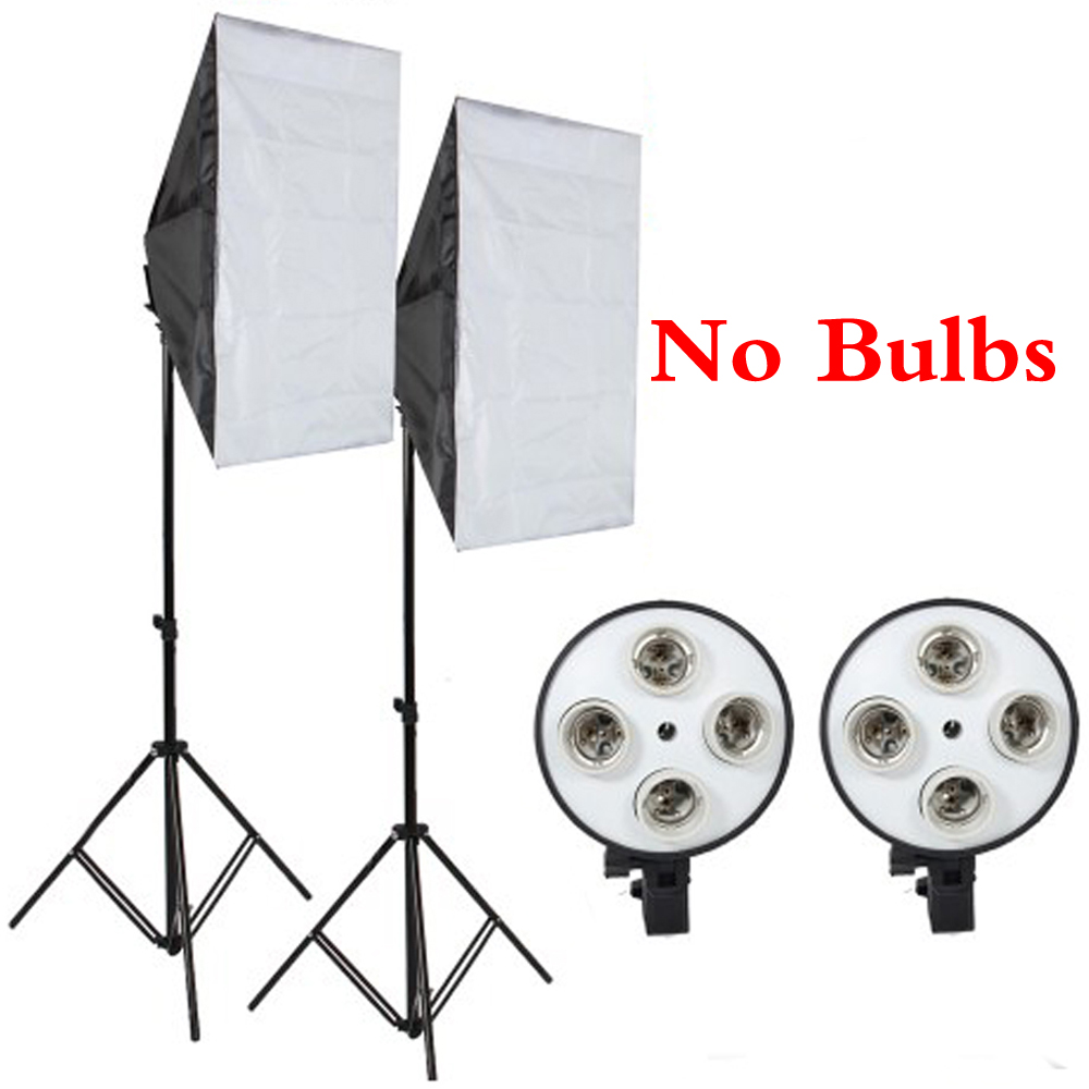 Professional Photography Studio Softbox E27 Led Lighting Holder Kit With Light Stand Light Box Photo Equipment For Diffuser professional photographic equipment camera softbox with light stand photo studio soft box for dslr photography studio light box