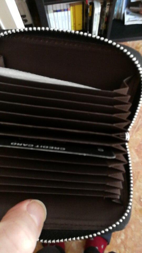 WESTCREEK Lederen Organisator Zakelijke RFID Creditcardhouder Koeienhuid Minimalistische Dames Reistas Tas Heren Kleine Portemonnee photo review