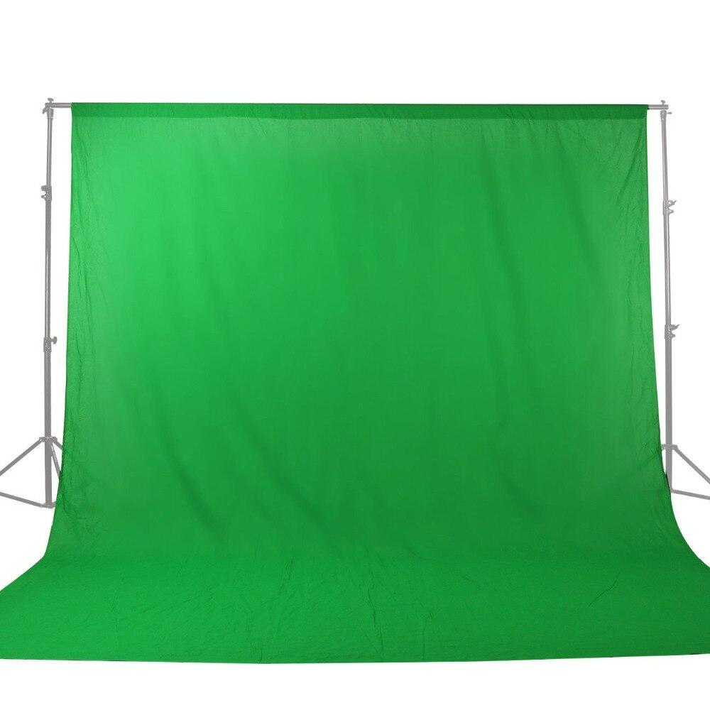 GSKAIWEN 3 M x 4 M Solide couleur Milieux Vert écran coton Mousseline fond Photographie toile de fond pour Photo Studio