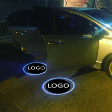 цена на JingXiangFeng 2 pcs Case For yamaha For louts Car Door Welcome Light Car LED Laser Logo Ghost Shadow Light Warning lights