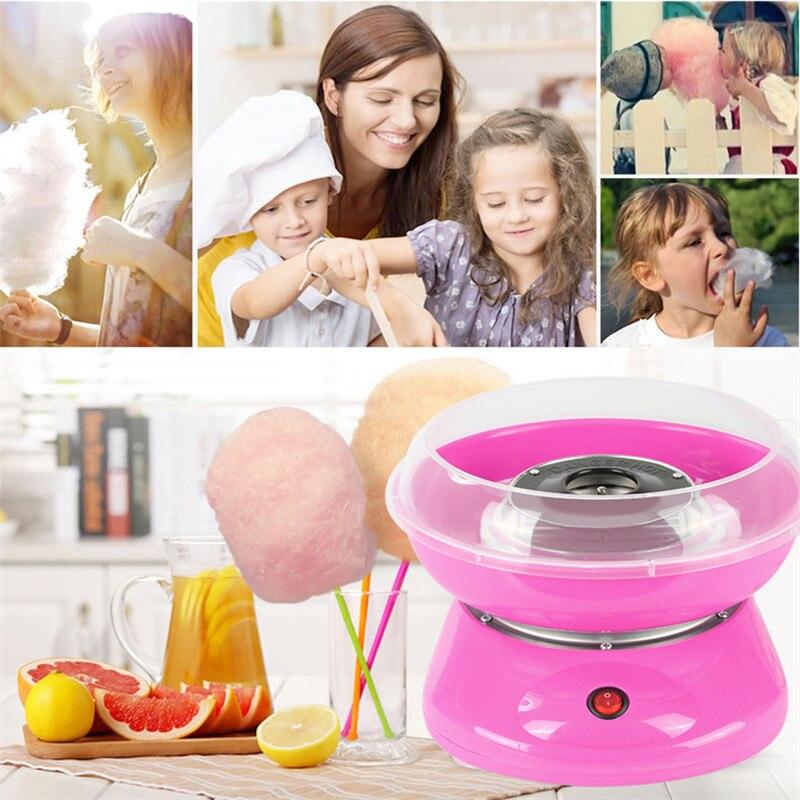 Mini Electric DIY Candy Floss Spun Sugar Maker Machine Home Sweet Sugar Cotton Candy Maker For Kids Family Gift EU Plug
