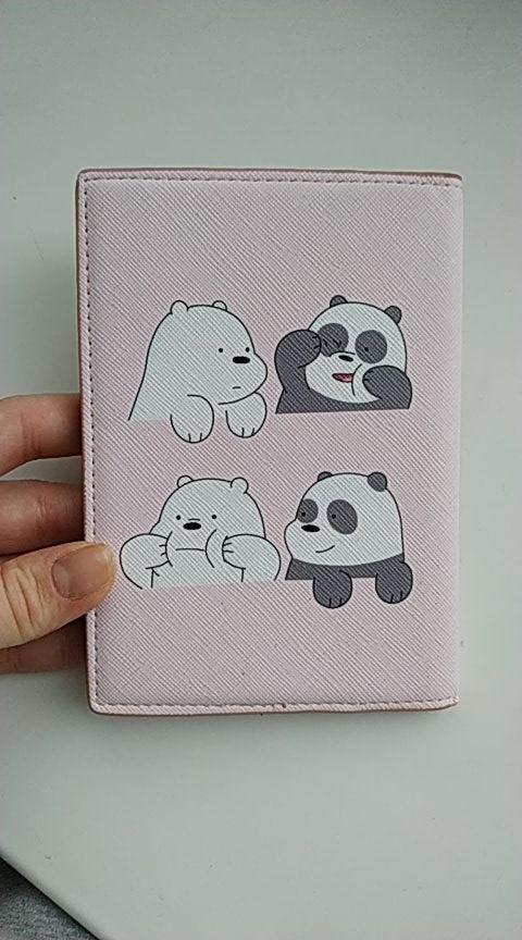 Cartoon schone beer paspoort cover waterdichte pakket paspoort clip document tas pu meisjes reizen eend panda kaarthouder tas photo review