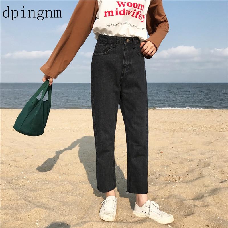 1886 Dpingnm Frauen Plus Größe Hohe Taille Washed Light Blue Wahre Jeanshosen Boyfriend-jeans Femme Für Frauen Jeans Spezieller Sommer Sale