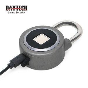 Image 4 - DAYTECH Bluetooth Смарт замок с отпечатком пальца, Электрический шкафчик для дверей, аккумуляторная батарея, Противоугонная защита для дома (L01)