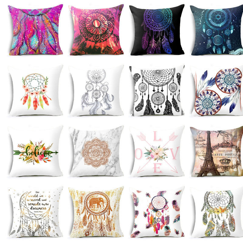 Elife Retro Dreamcatcher Linen Cotton Cushion Polyester Home Decor Bedroom Decorative Love Sofa Car Throw Pillows