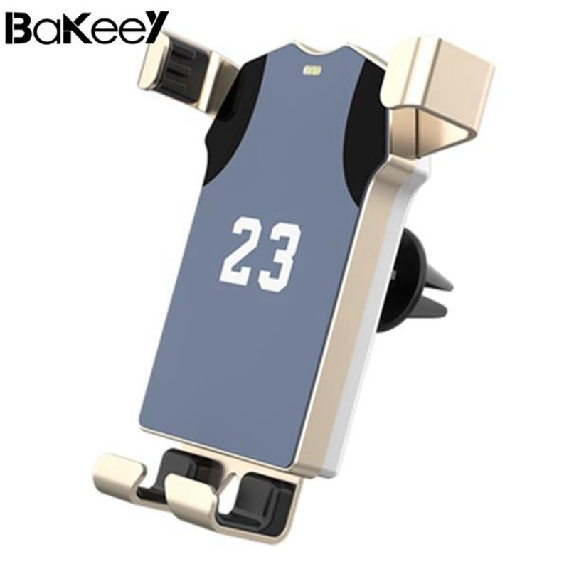 Original Bakeey Wireless Car Charger Polo Shirt Gravity Auto Lock Rotated Air Vent Bracket Phone Holder Stand for Mobile Phone