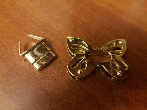 1PC Dames Vlinder Metaal DIY Sluiting Twist Twist Lock voor Handtas Schoudertas Portemonnee photo review