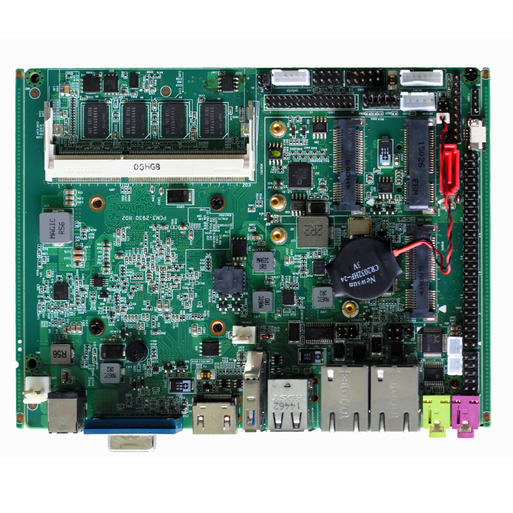 Mini 3.5 Inch Fanless Motherboard 4Gb Ram Quad Core J1900 Processor 2 Lan X86 Dual Lan Industrial PC Mainboard