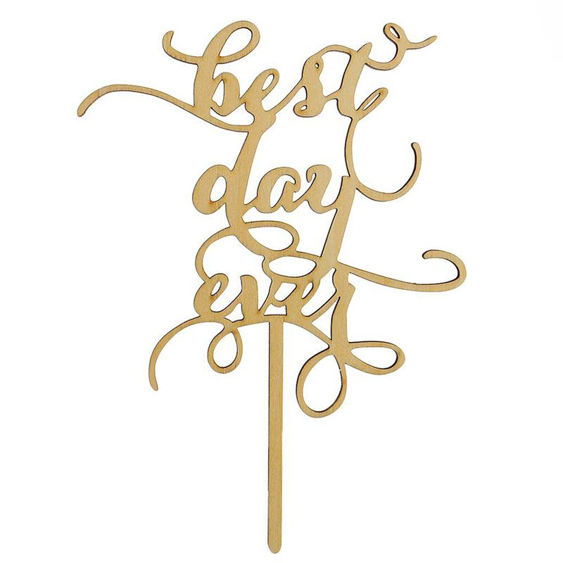 Best Day Ever Rustic Wedding Cake Topper Laser Cut Wood Letters