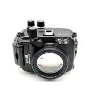 Tüketici Elektroniği'ten Kamera / Video Çantaları'de Meikon 40 m/130ft su geçirmez muhafaza Kılıf Canon EOS M3 (22mm Bağlantı Noktası) sualtı Kamera Çanta Kılıf Kapak Canon EOS M3