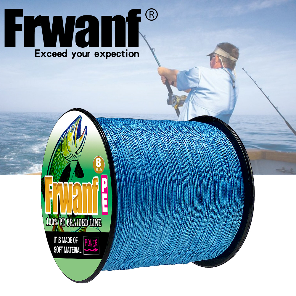 Frwanf 8 Strand Japan Super Strong PE Braided Fishing Line Multifilament Fishing Line 500m Braid Thread Black 8 Braid 6LB -300LB цена