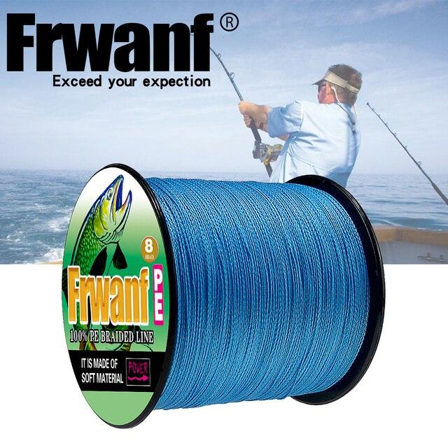 Frwanf 8 Strand Japan Super Strong PE Braided Fishing Line Multifilament Fishing Line 500m Braid Thread Black 8 Braid 6LB -300LB