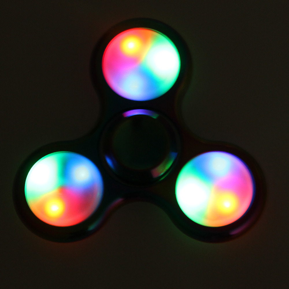 Rainbow LED Light Fidget Spinner Finger Metal EDC Hand Spinner For Autism and ADHD Relief Focus Anxiety Stress Toys Gift fidget hand spinner brass metal edc finger spinner anti stress hand spinner for autism adhd toys gift spinning top