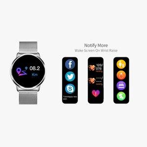 Image 3 - Смарт часы RUNDOING Q8, розовая версия, OLED цветной экран, фитнес трекер, монитор сна, пульсометр, кровяное давление, умные часы