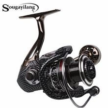 Sougayilang Spinning Fishing Reel 12+1Ball Bearing 2000-7000 Series Fishing Reel Boat Rock Carp Fishing Coil Reel Wheel De Pesca