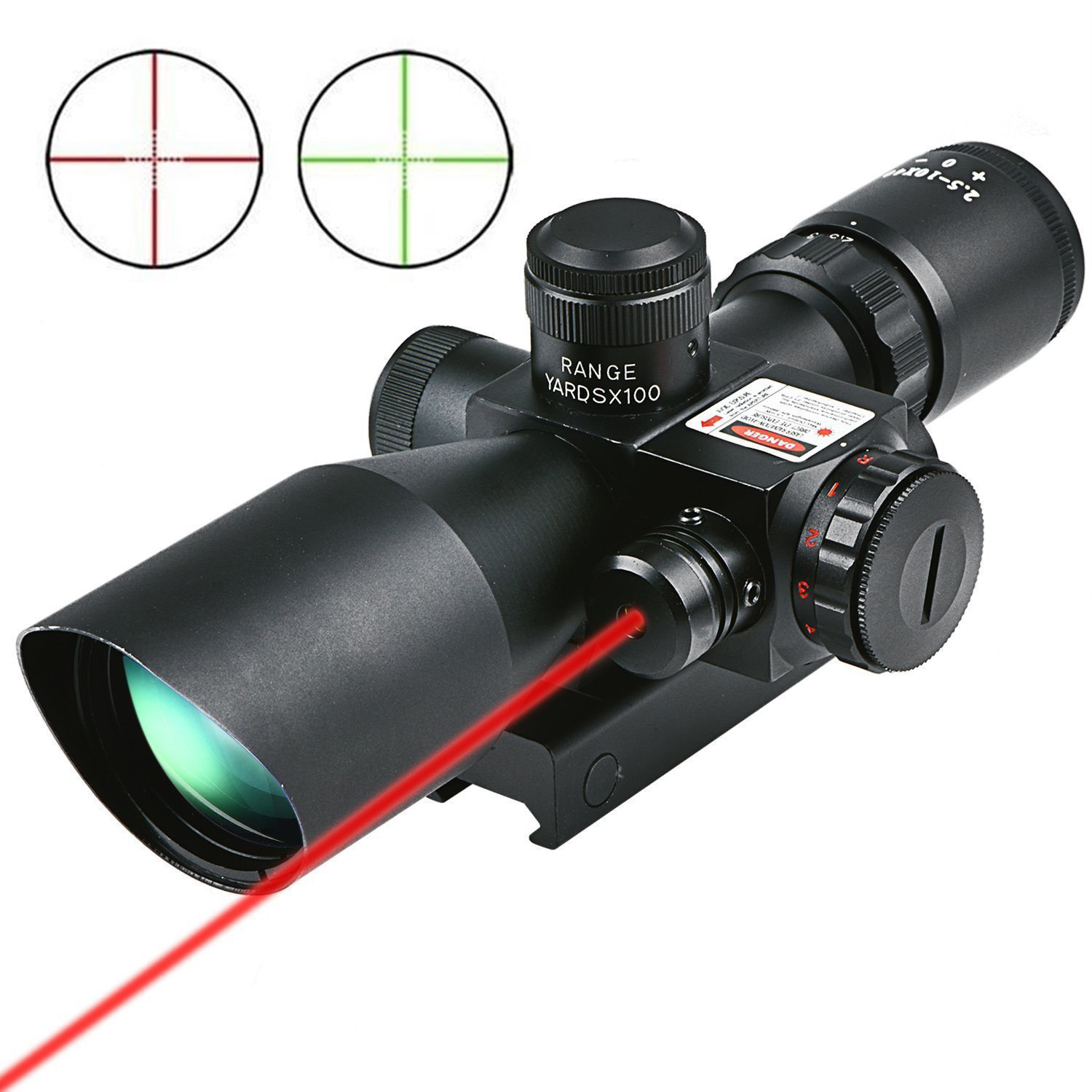 CVLIFE Hunting Rifle Scope 2.5-10x40 e Red Green Illuminated Mil-dot Gun RifleScopes Optics Sight Scope with 20mm & 11mm Mount цена